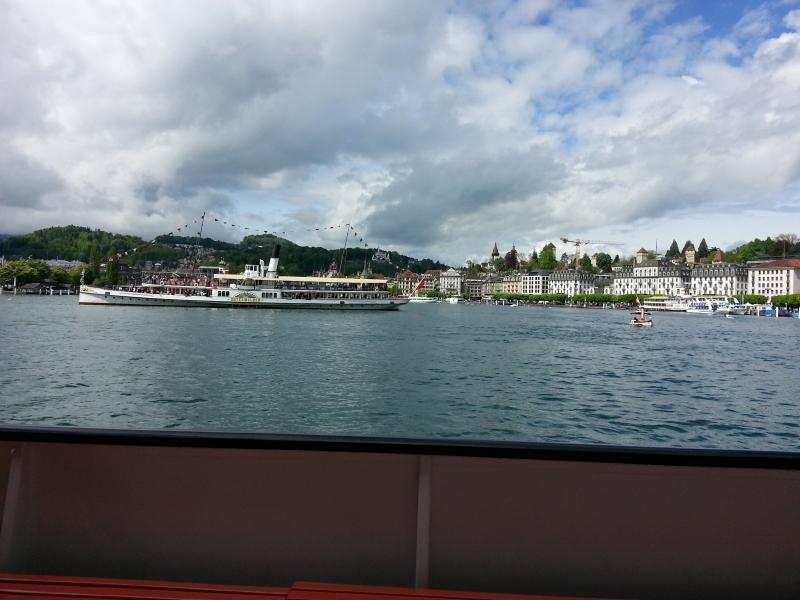 Vor der Kulisse von Luzern