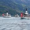 Dampfschiffe vor Weggis und Vitznau
