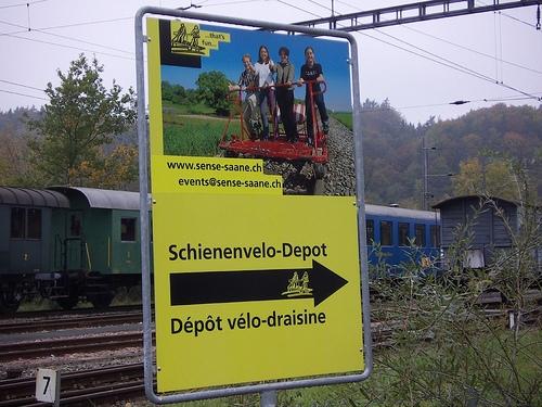 Auf dem Weg zum Schienenvelo