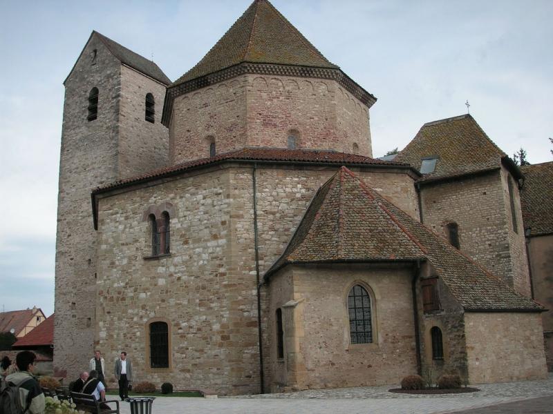 Achteckige Kirche in Ottmarsheim