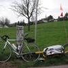 Rennrad und Monoporter