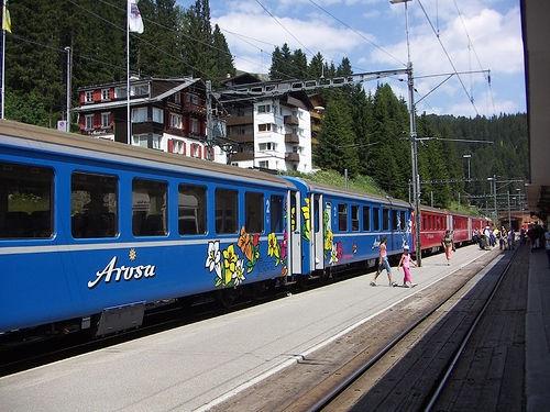 Im Bahnhof von Arosa