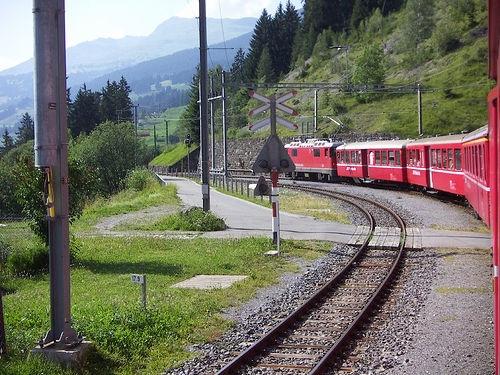 Im Bahnhof Langwies