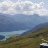 Corviglia, Blick ins Oberengadin