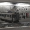 Mosaik im Bahnhof von St. Moritz