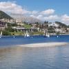 Segelschiffe vor der Kulisse von St. Moritz