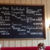 Speisekarte an der Wand