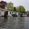Grachtenrundfahrt in Leiden, Hausboote