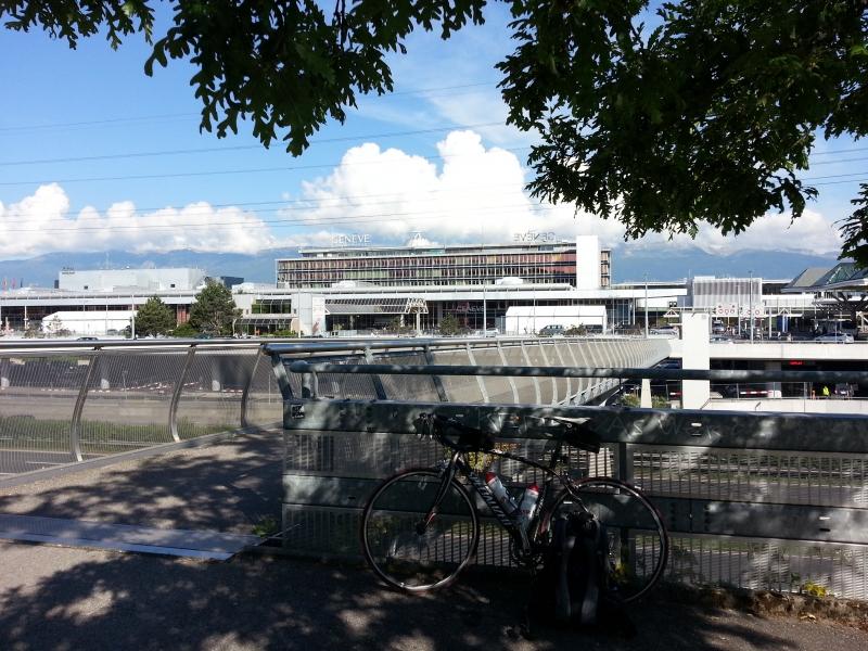 Start am Flughafen von Genf