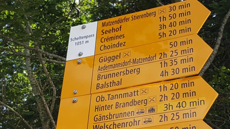 Passhöhe Scheltenpass