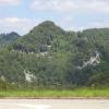 Als Beispiel eines der vielen Felsbänder