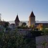 Estavayer-le-Lac in herbstlicher Abendstimmung
