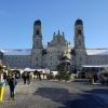 Weihnachtsmarkt vor dem Kloster in Einsiedeln