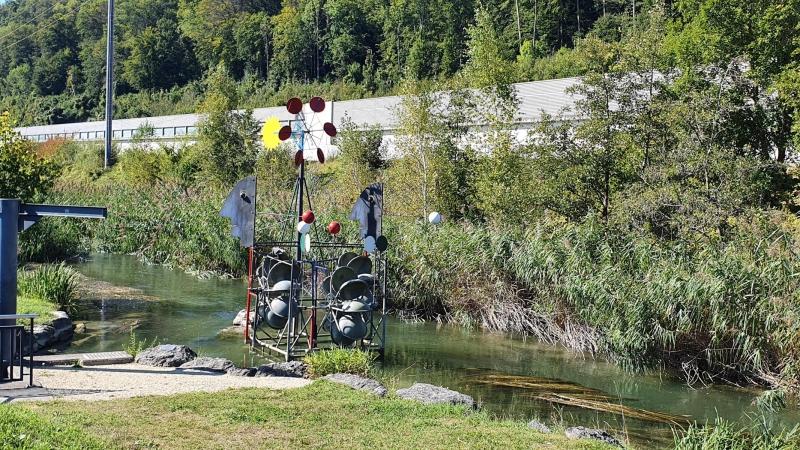 Wasserspiel bei Aarburg