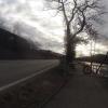gesperrter Radweg wegen Hochwasser (Olten)