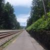 Radweg und Bahntrasse