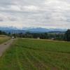Blick zum Alpenkamm, ab Ottenbach