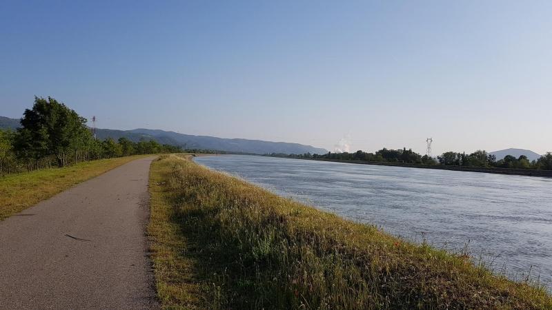 Uferweg an der Rhone