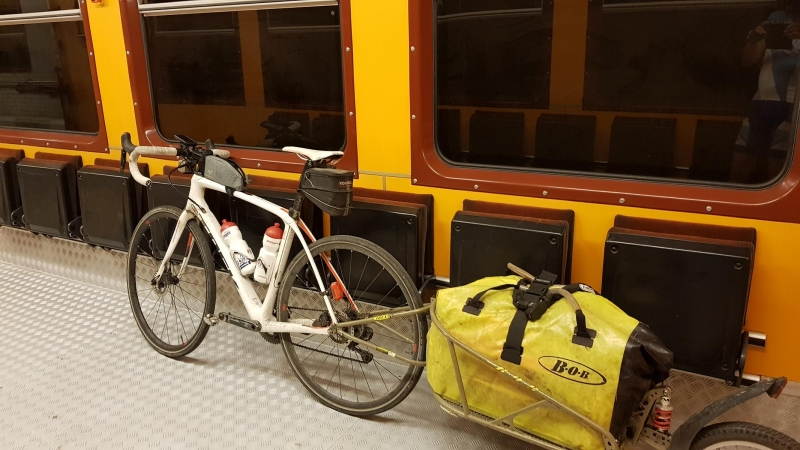Bahntransport nach Realp