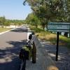 Schöner Radweg der Rhone entlang