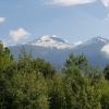 Blick auf die umliegenden Schneeberge