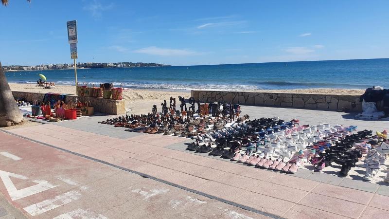 Strandverkauf in Salou