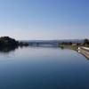 Blick über den ganzen Klingnauer Stausee