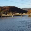 Eisenbahnbrücke unterhalb Klingnauer Stausee