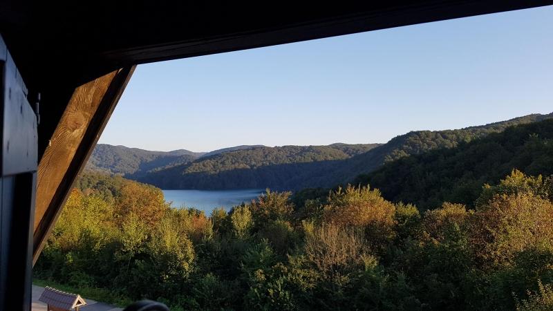 Erster Blick auf die Plitvicer Seen