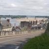 Blick auf die Loire von Saumur