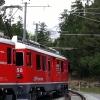 Berninabahn im Bahnhof Surovas