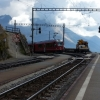 Zugseinfahrt auf Alp Grüm