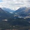 Blick zum Maloja über die Seen des Oberengadin