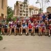 1. Etappe: Gruppenfoto, vor der Abfahrt in Manresa