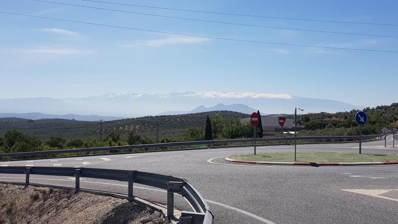 Immer wieder der Blick auf die Sierra Nevada