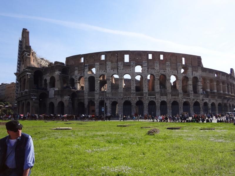 Blick zurück zum Colosseum