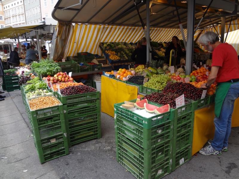 Auf dem Früchte- und Gemüsemarkt
