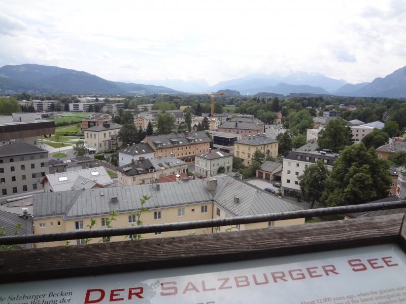 Altstadt von Salzburg, zur historischen Zeit der Salzburger Seen