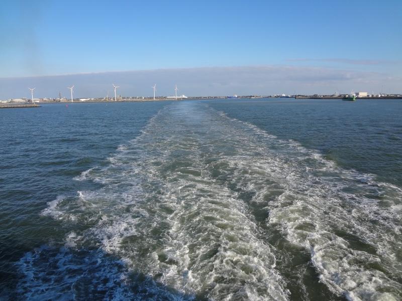 Eindrücke während der Ausfahrt aus Zeebrugge