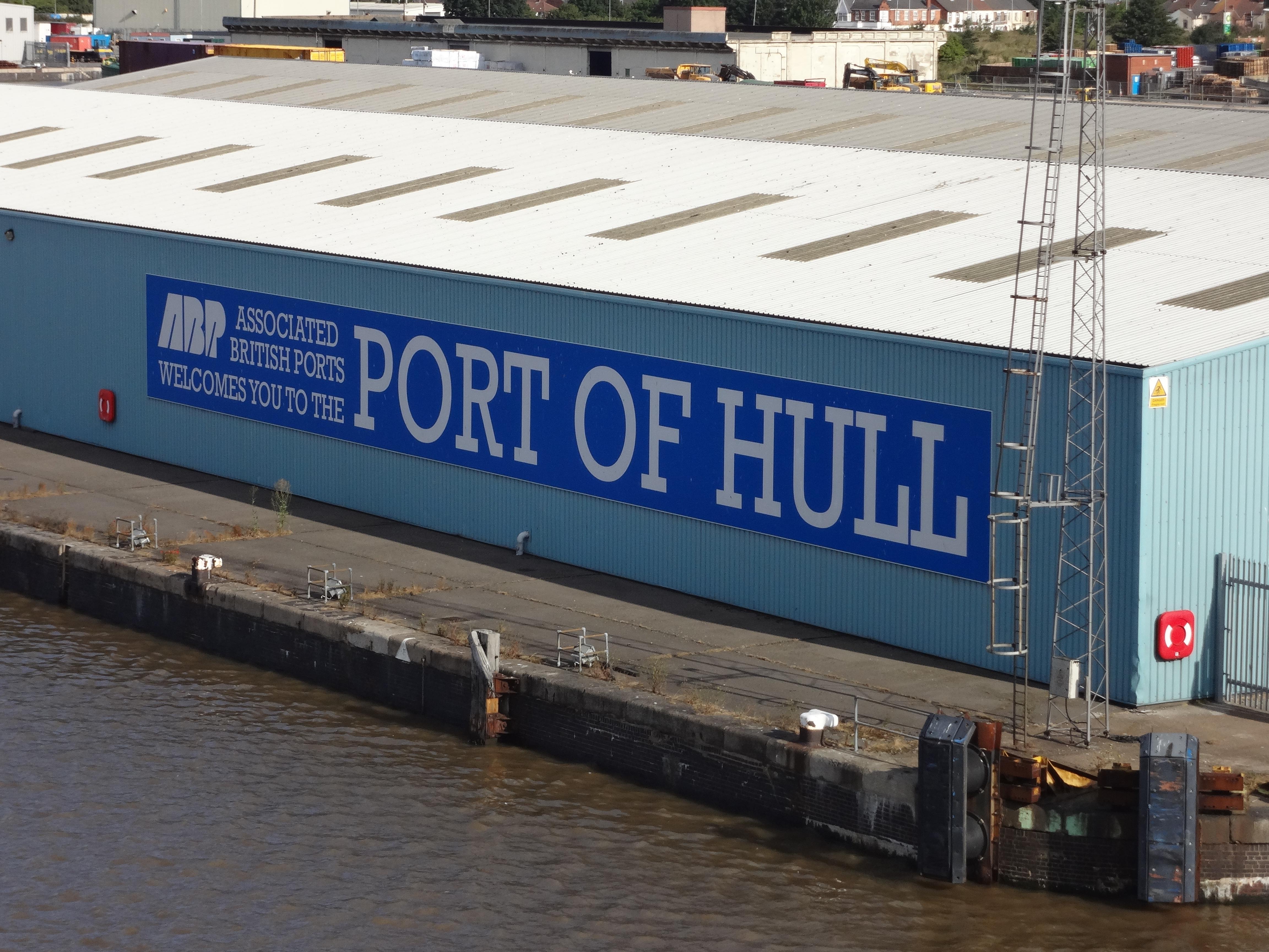 im Fährhafen von Hull