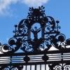 Hirsch und Kreuz über dem Eingang zum Holyroodhouse