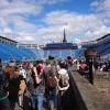 Zuschauertribünen auf Castle Edinburgh