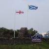am Grenzübergang Schottland - England