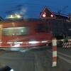 Bahnübergang mit Zug