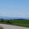 Blick zurück auf den Alpenkamm