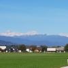 Die Alpenkette am Horizont wird grösser