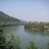 Blick dem Rhein entlang hinunter