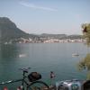 am Lago di Lugano, mit San Salvatore im Hintergrund