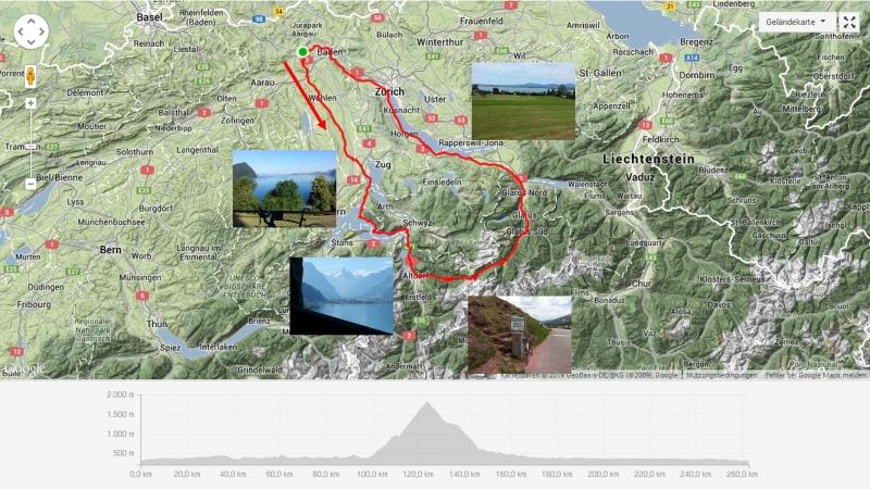 Durchs Freiamt zum Klausenpass und dem Zürichsee entlang zurück