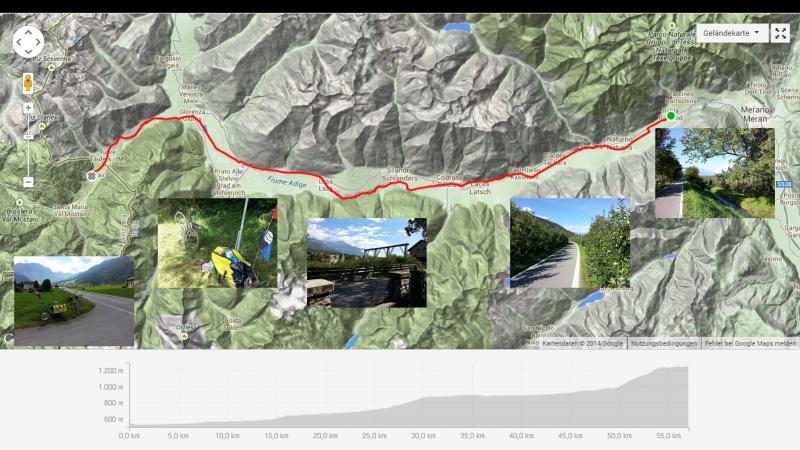 Rabland(I/Südtirol) nach Müstair (CH/GR)